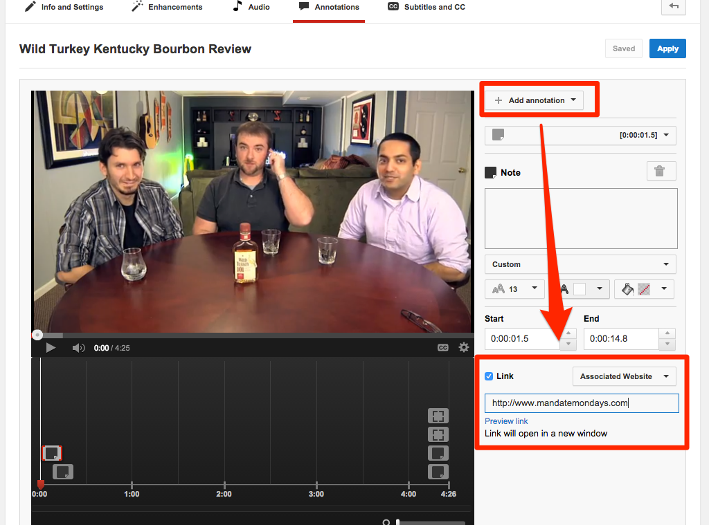 External Link annotation to increase youtube views and your offer
